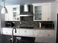 Remodel Custom Kitchen Stove White Cabinets Encino Home Remodel