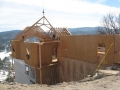 Lake Arrowhead Hillside Home Roof Being Built
