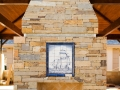 Custom Stone Fireplace Outdoor
