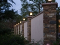 Side wall stone work and lighting
