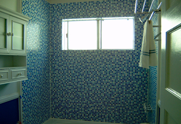 Bathroom Remodel Glass Tile