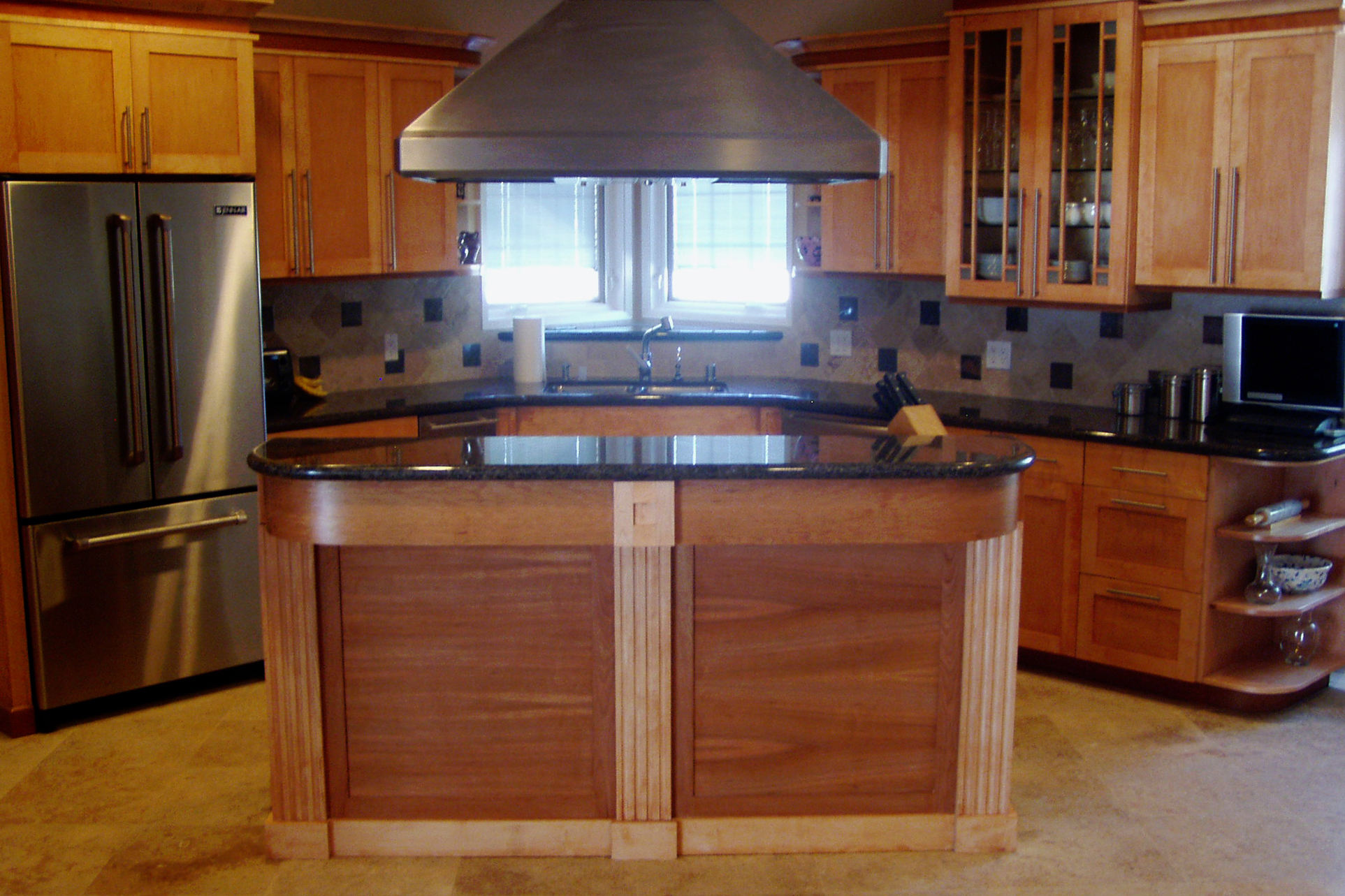 Kitchen Remodel Natural Wood Cabinets