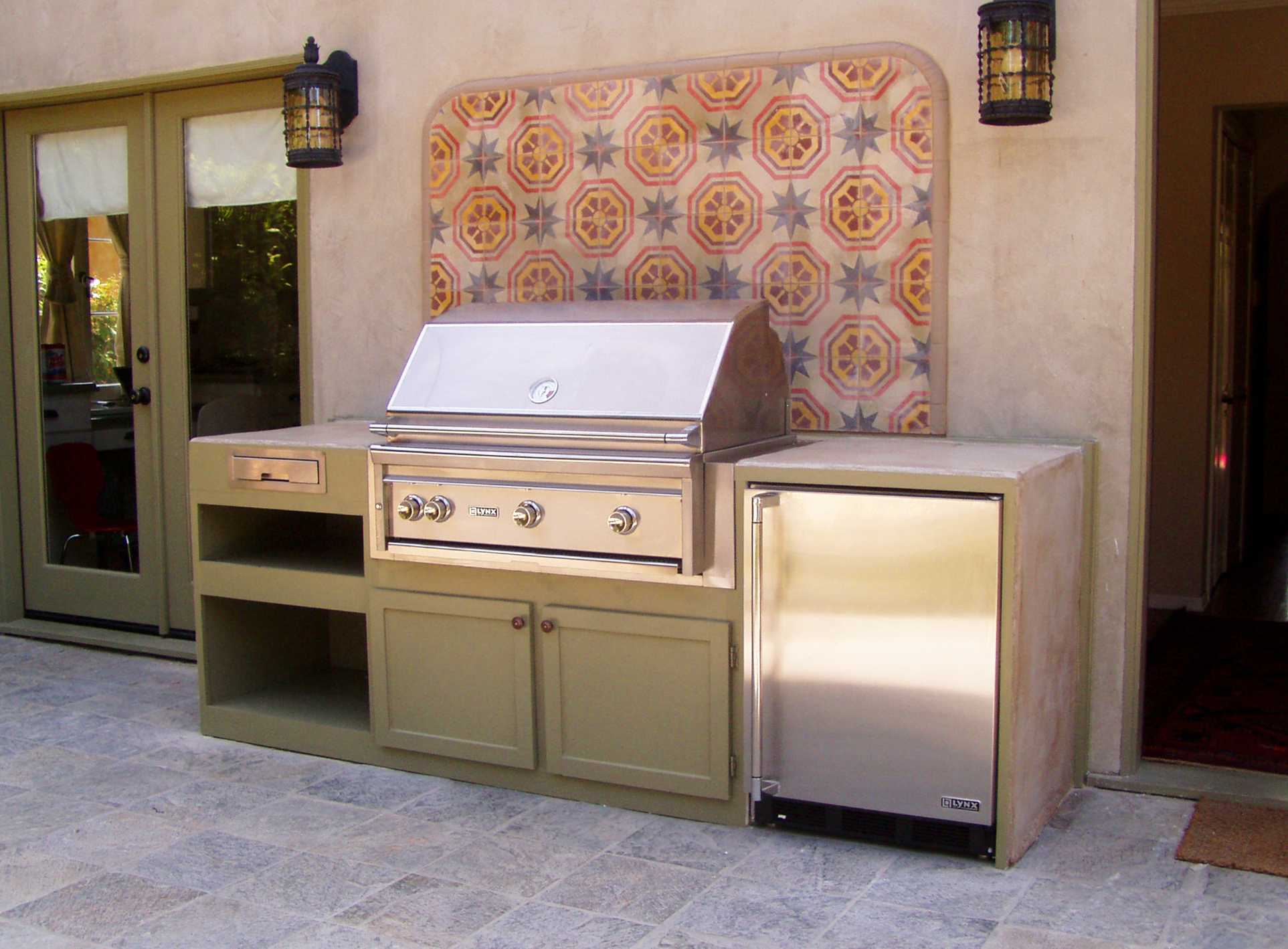 Custom Built-in BBQ